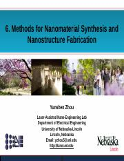 Nano Lecture Notes 09 - Synthesis, Assembly and Processing of Nanostructures.pptx