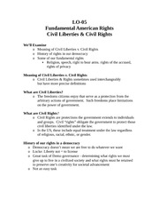 Americans Rights Notes