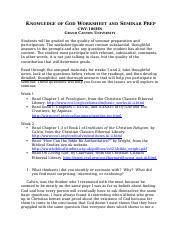 cwv 101 suffering worksheet