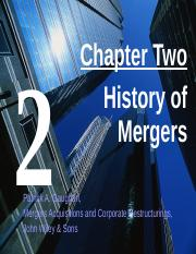 Ch 2 History of Mergers