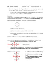 6.6 Rotations Symmetry Notes