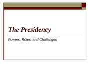 The_Presidency Lecture