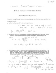 MATH 5 Fall 2010 Midterm Exam Solutions