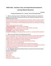 Learning Objective Questions- Exam#1