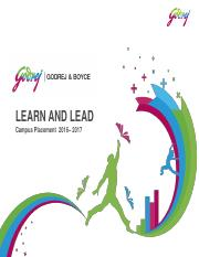 Learn and Lead Program 2016