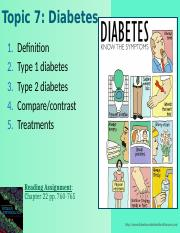 Topic 07-Diabetes Spring 2015-NOTES