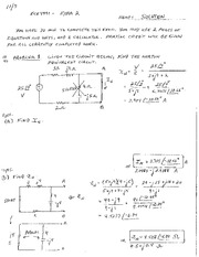 Exam 2 Study Guide Solution on Electric and Electronic Circuits