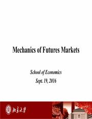 Revised FE 2nd Mechanics of   Futures Markets