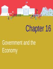 Chapter 16- Government and the Economy (1)