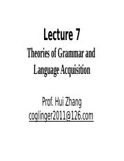 Lecture 7 theories of language and language acquisition1