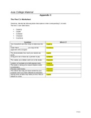 Week 3 Assignement - The Five C's Worksheet.docx