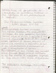 BIO- Endomembrane System notes