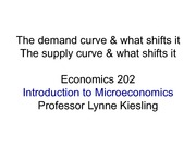 Lecture 3: The Demand and Supply Curves and What Shifts Them (student work)