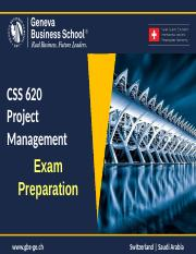 CSS 620 - Exam Preparation.ppt