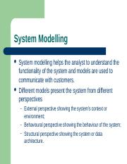 Chapter 5 - System Modeling