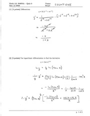 Math 121 Quiz 5 Solutions