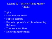 12. Markov Chains (OR Models)