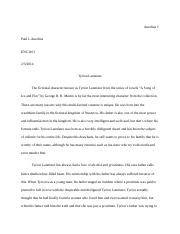 Division and clasification essay