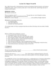 Lecture 16 Outline Notes F 2009
