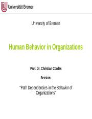 Human Behavior In Organization Pdf