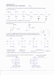 03 Fischer projection worksheet key