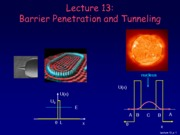 Physics 214 Lecture 13-Barrier Penetration and Tunneling