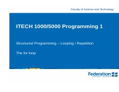 ITECH1000 For loops.pdf