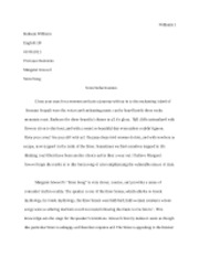 Short Essay- Siren Song
