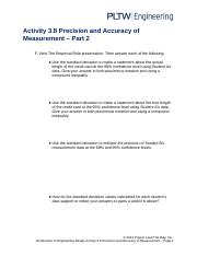 activity 3.8 precision and accuracy of measurement answer sheet
