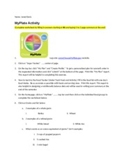 Chapter 2 MyPlate(1)