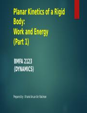 P1-Kinetics of a Particle Work n Energy Lect 1.pptx