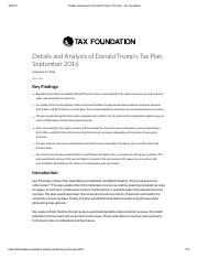 Details and Analysis of Donald Trump's Tax Plan - Tax Foundation