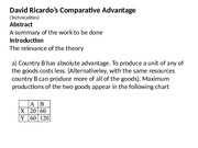 The comparative advantage theory