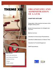 Theme XII - Organization and Administration of a Gym_4a43933
