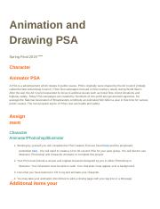 Sculpture and Drawing Final PSA project - Google Docs