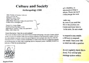 Culture and Society syllabus