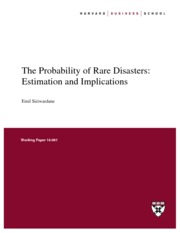 Probability of rare disasters