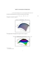 SIMPLE CONSTRAINED OPTIMIZATION