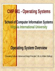 CMP641 Week 1B-Operating System Overview
