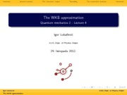 Lecture_notes_WKB_approximation