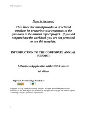 Corporate Annual Report Workbook Act 5060