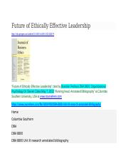 ETHICS-FEEL-COLUMBIA SOUTHERN UNIVERSITY-DR STEVEN CATES-DBA8800-ORGANIZATIONAL PSYCHOLOGY.docx