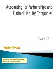 Ch12_Accounting for Partnerships and Limited Liability Companies.ppt