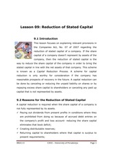 113-9 - Reduction of Stated Capital