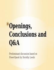 2 Openings, Conclusions and Q&A (1).pptx