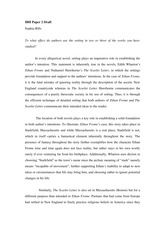 scarlet letter ap essay The scarlet letter: compare contrast essay essaysin the world of literature, there are many ways to indirectly convey or foreshadow events, settings, and situations.