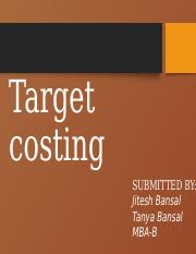 TARGET COSTING final
