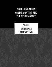 Marketing mix in online content and the other.pptx