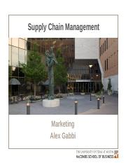 130-MKTG-Supply Chain Mgmt