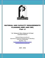 MATERIAL AND CAPACITY REQUIREMENTS PLANNING (MRP AND CRP) Part -1 - Dr. Mahmoud Al-Naimi.pdf